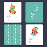Christmas set of cards Stock Image