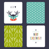 Christmas set of cards Royalty Free Stock Photo