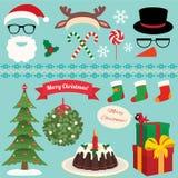 Christmas Set of celebratory symbols Stock Photos