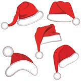 Christmas set collection hat for your design. Royalty Free Stock Photos