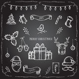 Christmas set of decorative elements Royalty Free Stock Photography