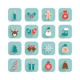 Christmas set different icons Stock Photography