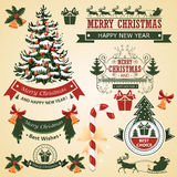 Christmas set of elements for design vector Royalty Free Stock Images