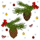 Christmas set elements on a white background. royalty free illustration