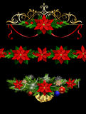 Christmas set elements for your designs Royalty Free Stock Images