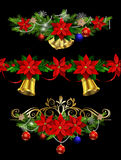 Christmas set elements for your designs Stock Photo