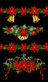 Christmas set elements for your designs Stock Photos