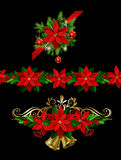 Christmas set elements for your designs Stock Images
