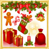 Christmas set. gifts Royalty Free Stock Image