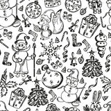 Christmas set of hand-drawn Stock Images