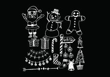 Christmas set of icons and elements Royalty Free Stock Image