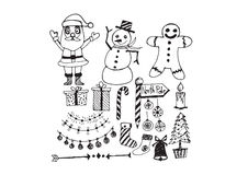 Christmas set of icons and elements Royalty Free Stock Photos