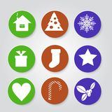 Christmas set icons. Stock Images