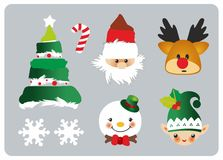 Christmas set icons Stock Photography