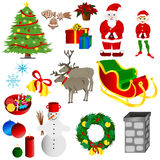 Christmas set stock illustration