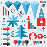Christmas. Set of infographics elements Royalty Free Stock Image