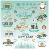 Christmas set - labels, Royalty Free Stock Photos