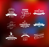 Christmas set - labels, emblems and elements. Christmas set - labels, emblems and decorative elements Stock Photography