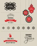 Christmas set - labels, emblems and elements Stock Image