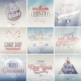Christmas set . Christmas set - labels, emblems and other decorative elements Royalty Free Stock Image