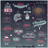 Christmas set. Labels, emblems and other decorative elements Stock Images