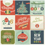 Christmas set - labels, emblems. Stock Photo
