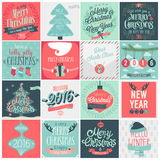 Christmas set - labels, emblems. Stock Photography