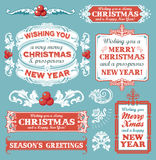 Christmas set - labels, emblems and other decorative elements royalty free illustration