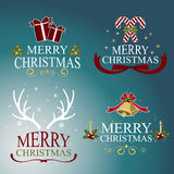 Christmas set - labels, emblems and other decorative elements.Vector Royalty Free Stock Images