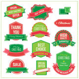 Christmas set - labels, tags and decorative Royalty Free Stock Photos