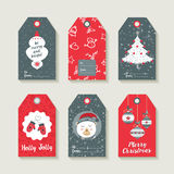 Christmas set of labels and tags for holiday gifts. Christmas set of gift labels and tags with illustrations of cute winter decoration. EPS10 vector Stock Photo