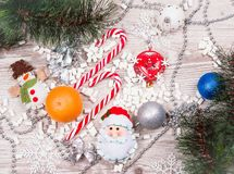 Christmas candy canes Royalty Free Stock Photo