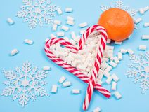 Christmas candy canes stock images