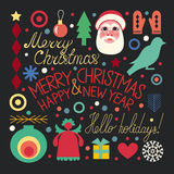 Christmas set of objects Stock Photography