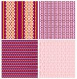 Christmas set of pattern designs Stock Photos