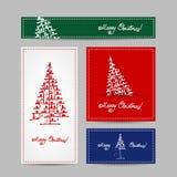 Christmas set for print cards Stock Image