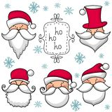 Christmas set  with Santa Claus Royalty Free Stock Images