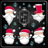 Christmas set  with Santa Claus Stock Photo