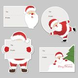 Christmas set - Santa Claus. Emblems and other decorative elements. Vector illustration Stock Images