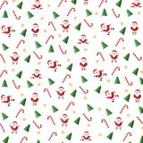 Christmas set - Santa Claus. Emblems and other decorative elements. Vector illustration Stock Photos
