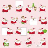 Christmas set of santa clauses cards,vector Royalty Free Stock Image