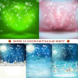 Christmas set, snowfall. EPS 10 Royalty Free Stock Photos