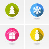Christmas. Set of stickers and badges icons for New Year and Christmas Royalty Free Illustration