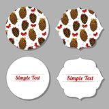 Christmas set of stickers, invitations, posters, flyers. royalty free illustration