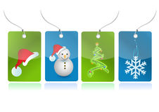 Christmas set of tags illustration Royalty Free Stock Image