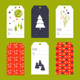 Christmas set of tags Royalty Free Stock Photos