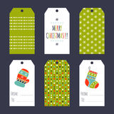 Christmas set of tags Royalty Free Stock Photography
