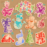 Christmas set text Stock Images
