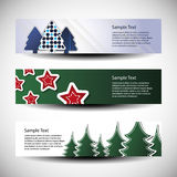 Christmas  set of three header designs Stock Photo