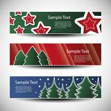 Christmas  set of three header designs Stock Photos